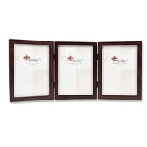Lawrence Frames 755957T Espresso Wood Hinged Triple Picture Frame, 5 by ... - $32.50