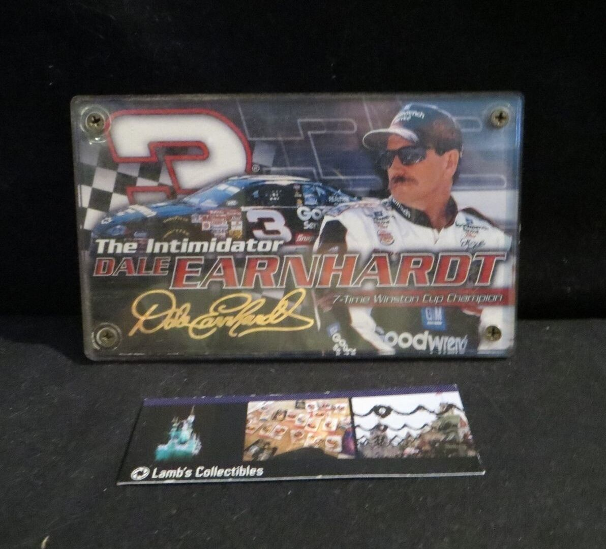 Primary image for Dale Earnhardt #3 card 24K gold signature plaque 2001 RCI Nascar collectible