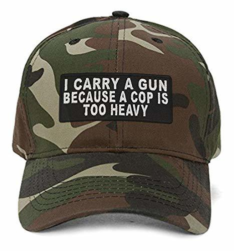 I Carry a Gun Because a Cop is Too Heavy - Adjustable Unisex Camo Cap - Shipped