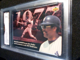 1994 Upper Deck Reggie Jackson GMA Graded 7 NM baseball card number 122 - $9.99