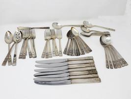 46 pieces of Community Onieda silverplate Coronation flatware with servi... - $85.00