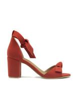 Vegan Sandal Middle Chunky Block Heel Peep Toe Ankle-Strap Knot Casual S... - $117.00