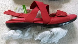 Women's Canvas Sling Shoes ~  Size 8.5 ~ Red Color  ~ Grasshoppers - $22.99
