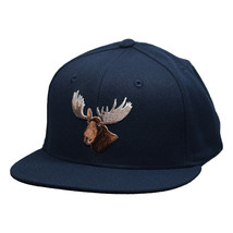 Moose Head Snapback Hat by LET'S BE IRIE - Navy Blue - £15.43 GBP