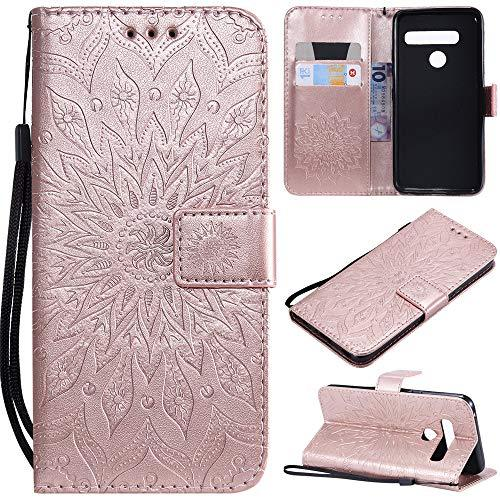 XYX Wallet Case for LG G8, Sunflower PU Leather Phone Wallet Case for LG G8/LG G