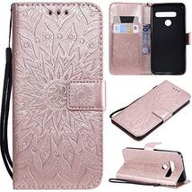 XYX Wallet Case for LG G8, Sunflower PU Leather Phone Wallet Case for LG... - $9.88