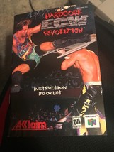 ECW Hardcore Revolution Wrestling N64 Nintendo 64 Instruction Manual Only - $9.46