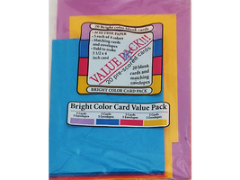 Halcraft USA Bright Color Value Pack, 20 Pre-Scored Card Bases and Envelopes