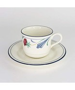Lenox Chinastone Poppies on Blue Cup and Saucer Set - $22.77
