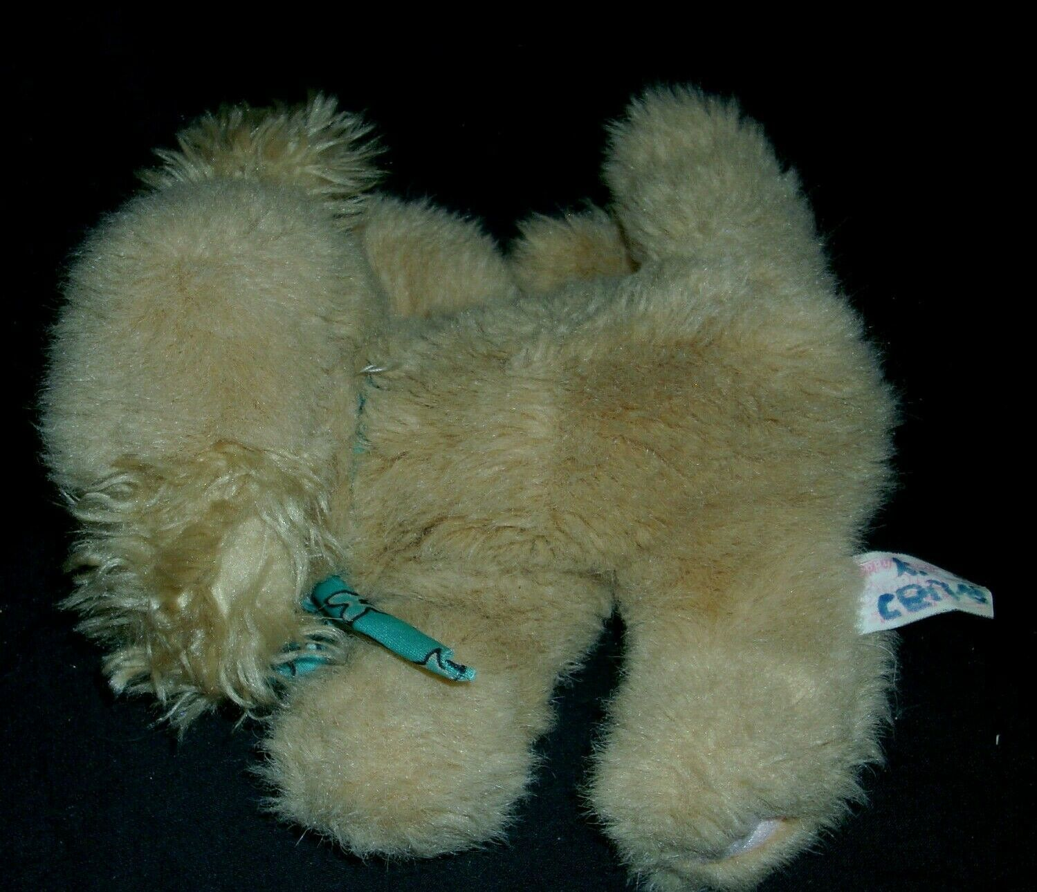 VINTAGE 1993 TYCO PUPPY PUPPY PUPPIES STUFFED ANIMAL PLUSH TOY PUP DOG TAN BOW image 2