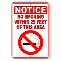 No Smoking Within 25' Of This Area Metal Sign Or Decal 7 SIZES vaping SN... - $5.83+