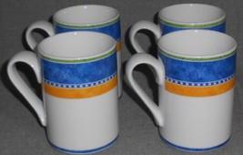 Set (4) Dansk Bistro KOBENHAVN PATTERN Handled Mugs - $19.79