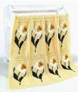 X041 Crochet PATTERN ONLY Delightful Daffodil Flower Afghan Pattern - $7.50