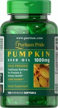 NATURAL Pumpkin Seed Oil 1000mg. 100 Softgels PROSTATE AND URINARY HEALT... - $26.58