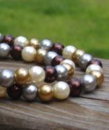 Multi Color Pearl Necklace - $125.00