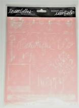 """Teresa Collins Signature Essentials 3 Pk Stencil Sheets 8x10"""" - Love You image 1"""