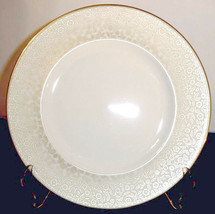 "Lenox Capital Gardens Accent Luncheon Plate Gold Banded 9.25""  - $19.90"