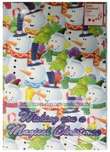 "MULTIPLE SNOWMEN+TREES* 15""x10"" GIANT CARD Wishing You A Magical Christm... - $3.60"