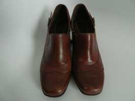 Womens Clarks Brown Leather Upper Ankle Boots Size 11M 84135 - $27.99