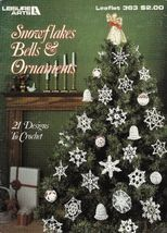 X079 Crochet PATTERN ONLY Snowflakes Bells and Ornaments Pattern 21 Designs - $10.50