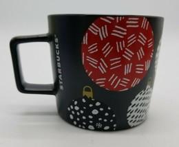 Starbucks 2016 Holiday Ball Ornaments Black Matte Christmas 12oz Coffee Mug Cup - $23.64