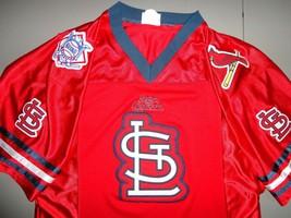 Rare Vtg Sewn St. Louis Cardinals Football Style Mlb Baseball Jersey Men M Excel - $48.50