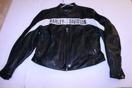Women's Harley Davidson XL Leather Coat W/ Inside Lining - $196.35