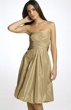 Donna Ricco Strapless Bubble Hem Iridescent Satin Dress, size 14 NWT new - $37.10