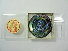 Summit Art Glass Vogelsong Carnival Circus Memories 3D Elephant Mini Plate  - $18.69