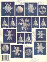 X104 Crochet PATTERN ONLY Snowballs, Snowflakes and Bells Ornament Pattern - $13.50