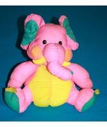 """Dan Dee Stuffed ELEPHANT 10"""" Nylon Parachute Plush Soft Toy Pink Yellow ... - $29.00"""