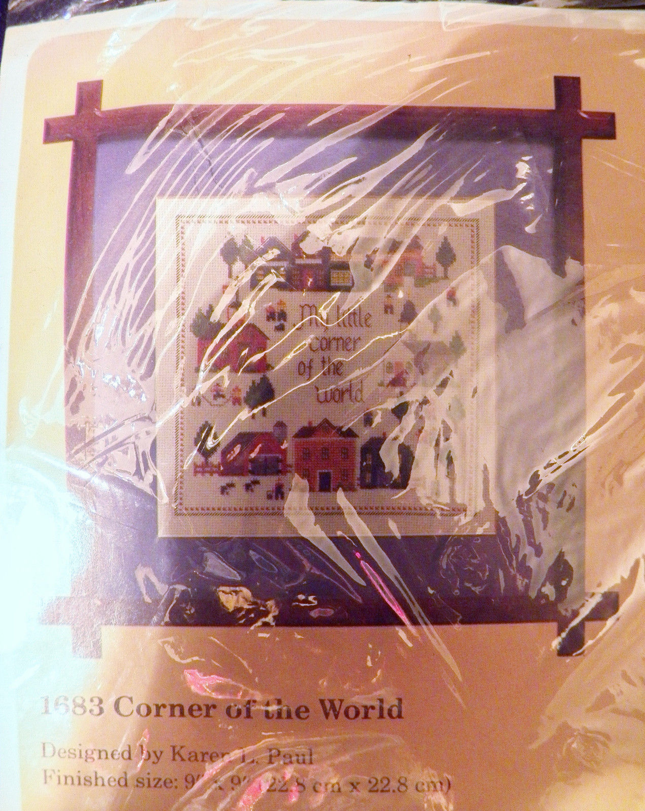 Karen L. Paul Creative Circle Counted Cross Stitch Kit Corner of the World 1683