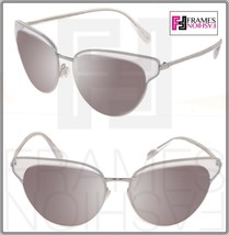 Oliver Peoples Josa OV1187 Silver Clear Crystal Mirrored Sunglasses Cat Eye 1187 - $230.67