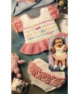 X114 Crochet PATTERN ONLY Ribbons and Bows Dres... - $7.45