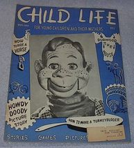 Vintage Child Life Magazine Howdy Doody November 1950 - $19.91