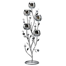 6 SILVER TULIP TREE CANDELABRA Wedding Centerpiece - $254.30