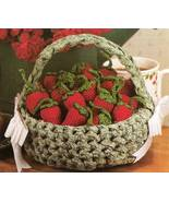 X125 Crochet PATTERN ONLY Summer Strawberries and Basket Pattern - $8.50