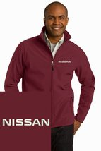 NISSAN Maroon Embroidered Port Authority Core Soft Shell Unisex Jacket NEW - $39.99