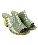Paul Green Gray Tiered Gray Leather High Heel Open Toe Sandals Shoes Wom... - $94.04