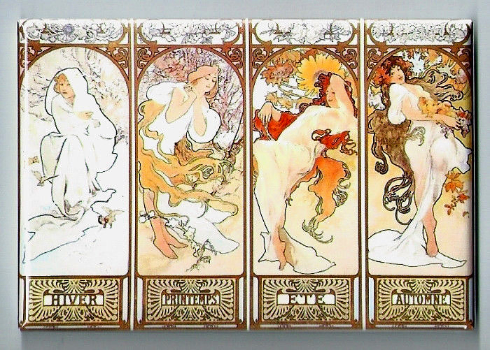 Mucha four seasons magnet