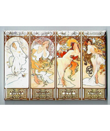 ALPHONSE MUCHA MAGNET 2x3 IN THE FOUR SEASONS - HIVER PRINTEMPS ETE AUTOMNE - $7.99