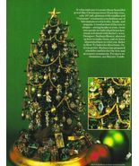X159 Bead PATTERN ONLY Elegant Beaded Christmas Tree with Ornaments Pattern - $20.50