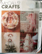 Pattern 6726 Victorian Inspired Christmas Decorations - $5.00