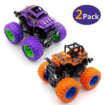 WOCY Monster Trucks Toys, 2 Pack Inertia Push Cars for Boys and Girls, Suitable