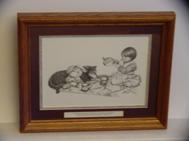 Framed Diana Glanco Inspirational Drawing of a Little Girl a - $12.40
