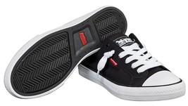 New Levi's Black Denim Girls Stan G Canvas Sneakers Gym Shoes in Box 1091100