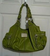 Relic Green Purse Shoulder Bag Twisted Braided Handles Inner Leopard Pri... - $8.00