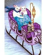 4x6 Art print Cat 444 mouse fantasy OSWOA by Lu... - $7.99