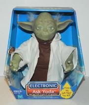 "Star Wars 8"" Yoda Figure Electronic Ask Yoda, 2002 Hasbro #71099 NEW UNUSED - $48.37"