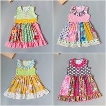 NEW Girls Boutique Multi Print Sleeveless Ruffle Dress12-18 M 2T 3T - $16.99